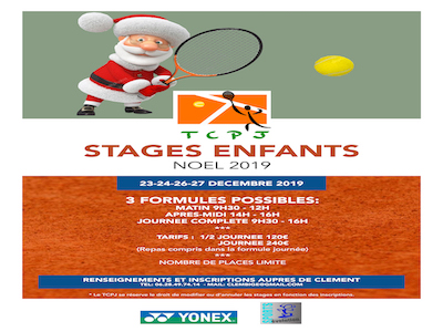 Stages Jeunes Noël